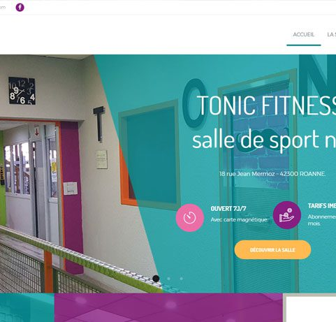 Site internet Tonic Fitness