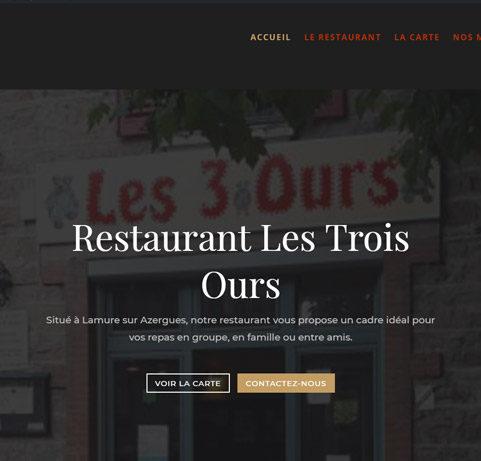 Création site restaurant les trois ours
